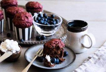 Vegan Double Chocolate Beet Muffins