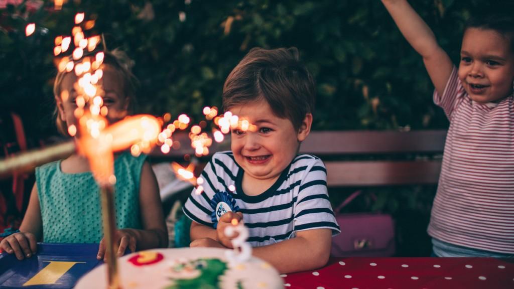 Kids Enjoying The Birthday Party