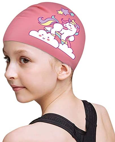 FUNOWN Kids' Swim Cap