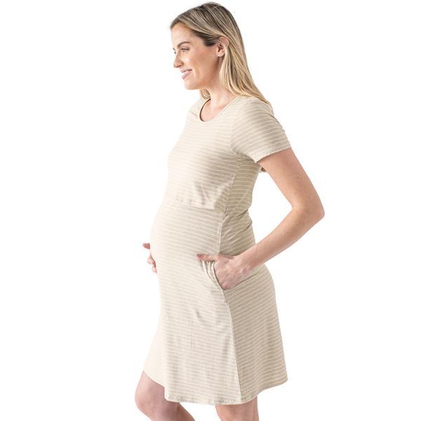 Kindred Bravely Eleanora Bamboo Maternity & Nursing Lounge Dress