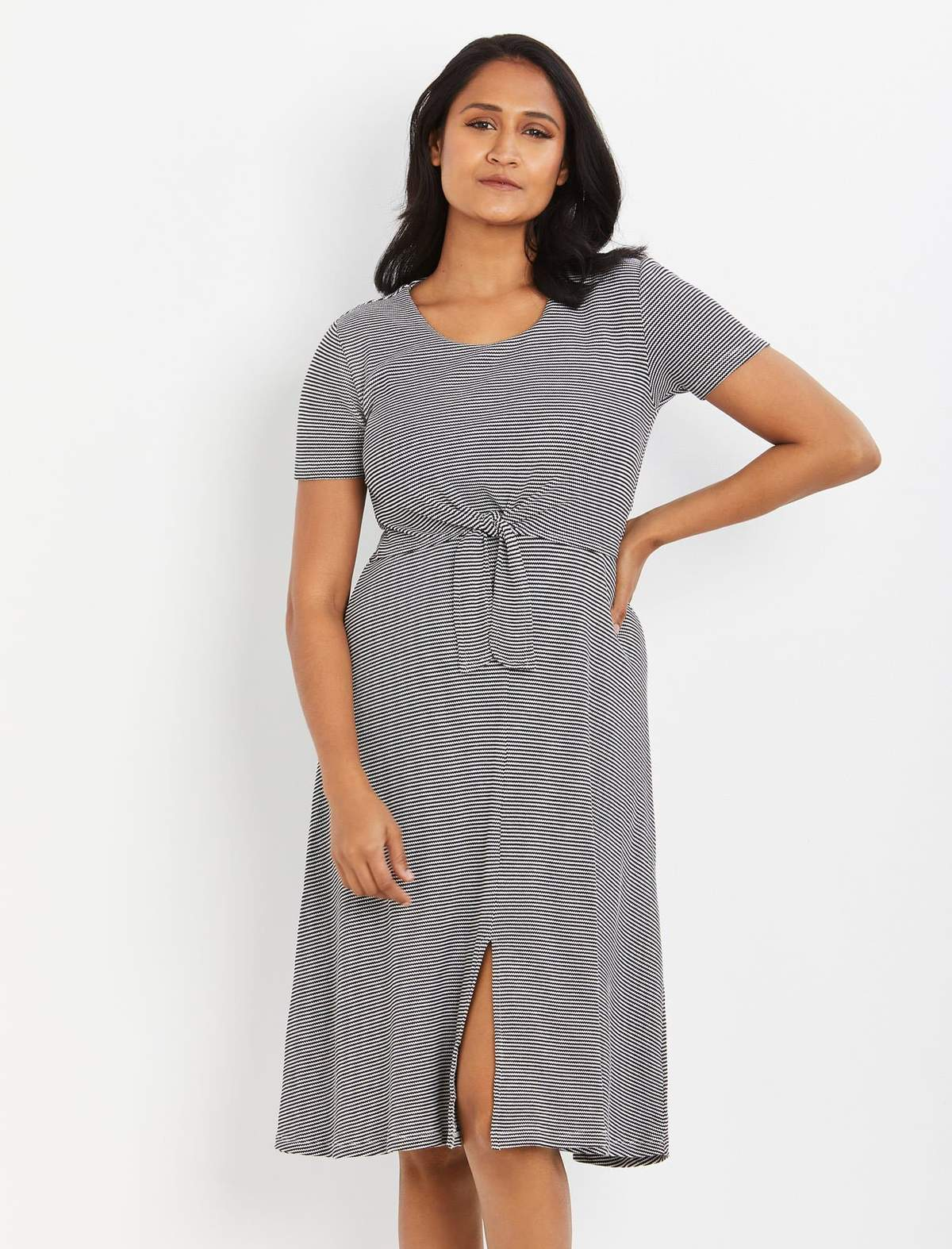 A Pea In The Pod Ripe Lift Up Tie Front Nursing Dress