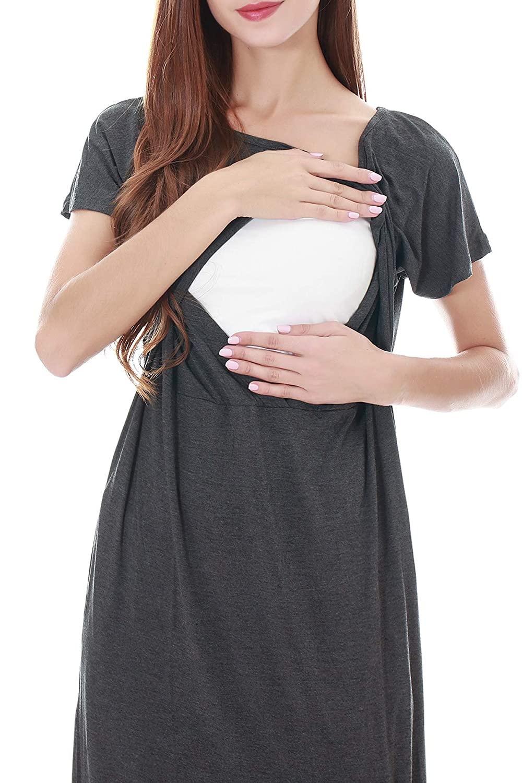 Smallshow Split Long Nursing Dress