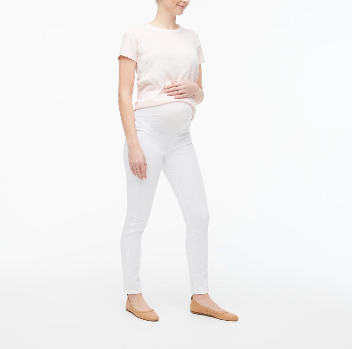 J.Crew White Maternity In White