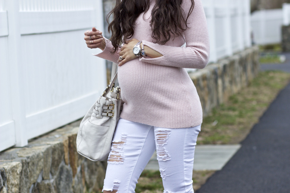 Who Says You Can't Wear White Maternity Jeans?